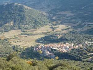 La vue de Duilhac-sous-Peyrepertuse depuis le château