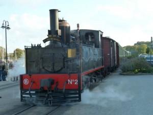 Le train à vapeur de St-Valéry/Somme jusqu'au Crotoy.