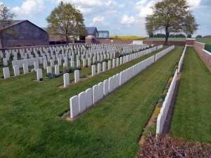 Un des cimetières de Bray/Somme.