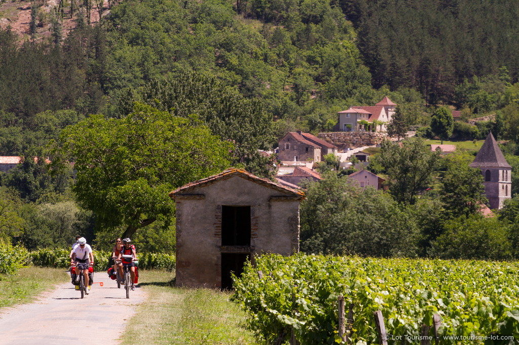 Véloroute Vallée du Lot © Lot Tourisme - P. Foresti