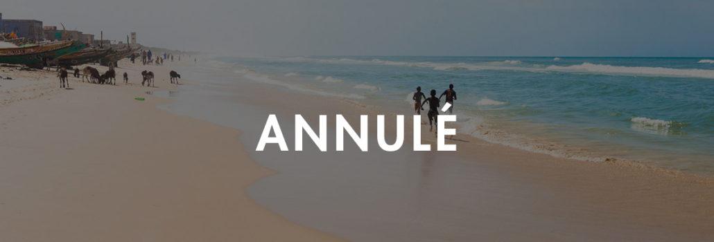 Sénégal annulation