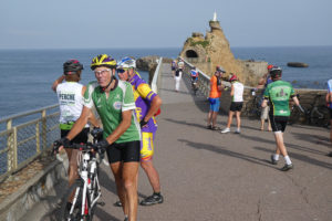 Le rocher de la Vierge à Biarritz.