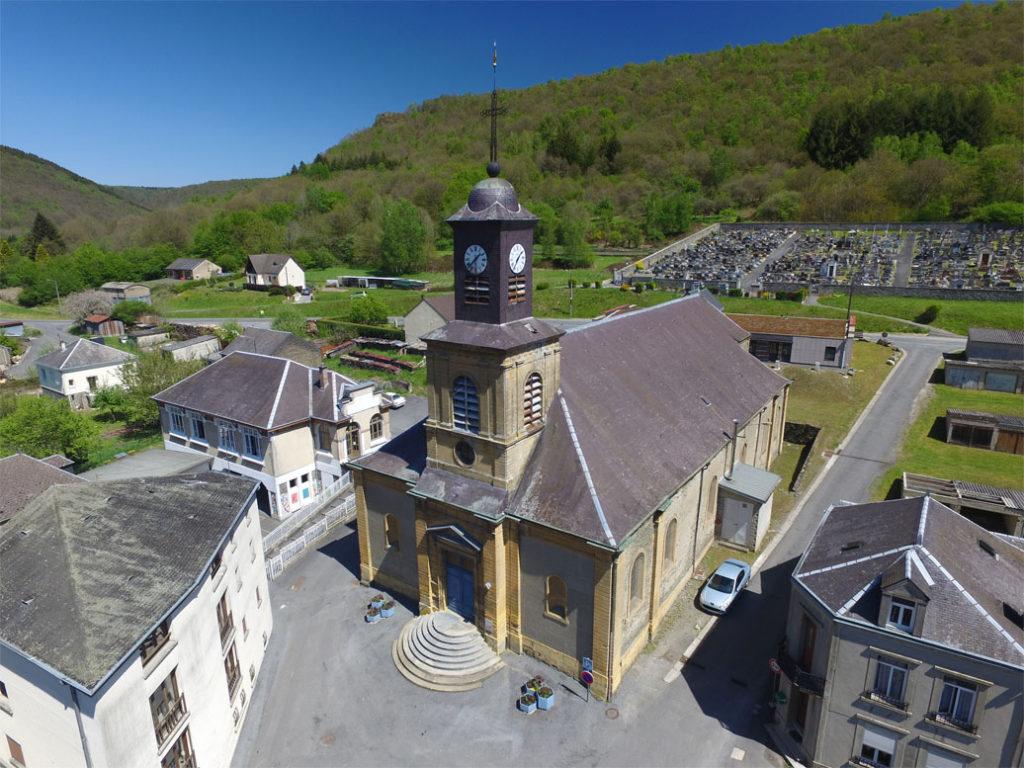 L'église de Hautes-Rivières, BPF 08 © CC Vallées et plateau d'Ardenne