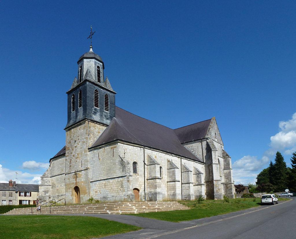 Launoy-sur-Vence, l'église St-Etienne © H. Dunan