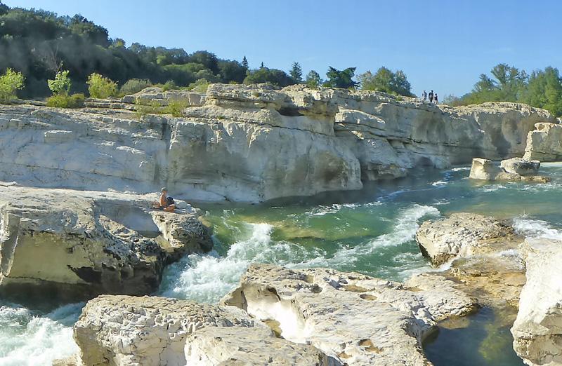 La Roque-sur-Cèze, nouveau site du Gard. © FFCT
